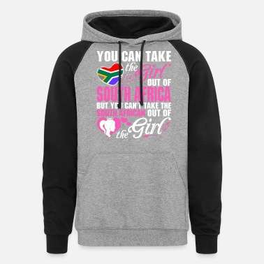 South Africa You Can Take The Girl Out Of South Africa - Unisex Colorblock Hoodie