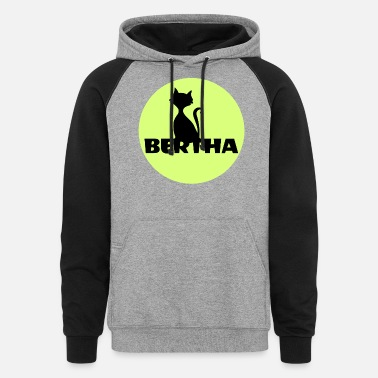 First Name Bertha name first name - Unisex Colorblock Hoodie