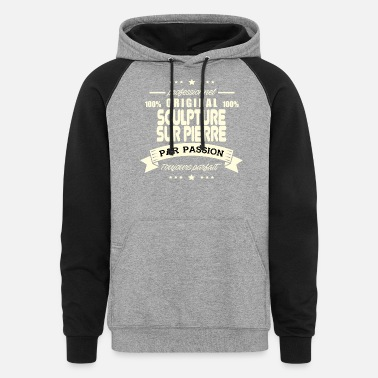 A Stone Original stone carving - Unisex Colorblock Hoodie