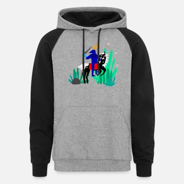 Illustrations illustration - Unisex Colorblock Hoodie