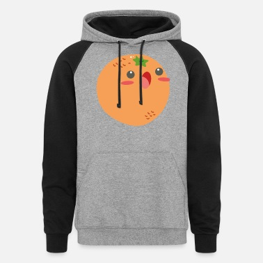 Fruit Images Of Orange Fruit Image - Unisex Colorblock Hoodie