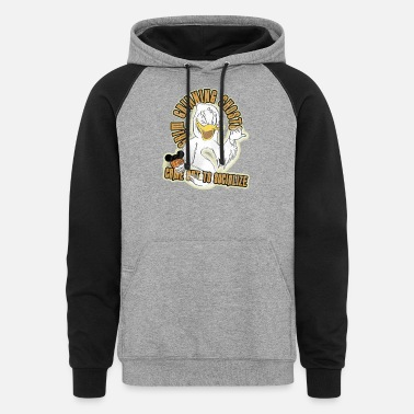 Grinning Donald Duck Grin Grinning Ghosts - Unisex Colorblock Hoodie