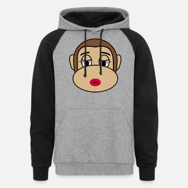 Cosmetics Beautiful Cosmetic Monkey - Unisex Colorblock Hoodie
