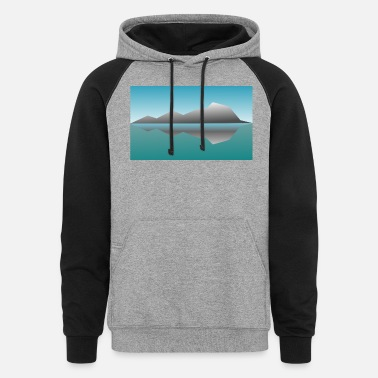 Landscape Reflection - Unisex Colorblock Hoodie