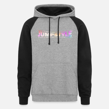 Jumpstyle LOVE TECHNO GESCHENK goa pbm JUMPSTYLE hippie - Unisex Colorblock Hoodie