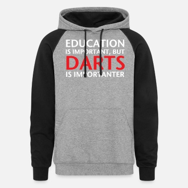 Education Culture Education Darts - Unisex Colorblock Hoodie