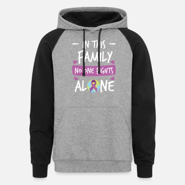 Together In this Family no one fights alone Pink Ribbon - Unisex Colorblock Hoodie