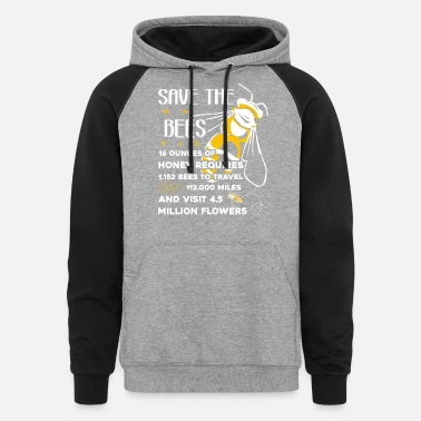 Save The Honey Save The Honey Bees Shirt - Unisex Colorblock Hoodie