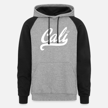 California Bear CALI white state bear surfing all style California - Unisex Colorblock Hoodie