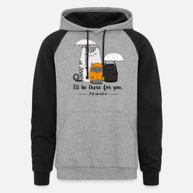 Lung Cancer Funny BE THERE FOR YOU CAT LUNG CANCER - Unisex Colorblock Hoodie