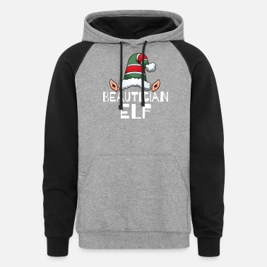 Beautician Elf Christmas Holidays Xmas Elves - Colorblock Hoodie