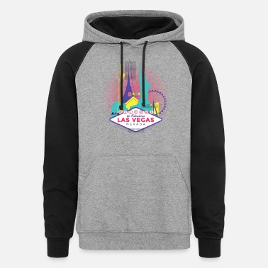 Vegas Las Vegas Skyline - Welcome to Fabulous Las Vegas - Unisex Colorblock Hoodie