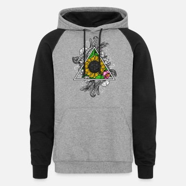 Geometry Sunflower Sacred Geometry - Unisex Colorblock Hoodie