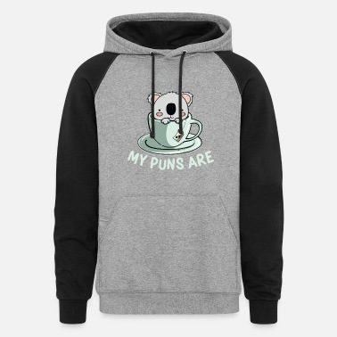 My Puns are | vintage wilderness animal gift - Unisex Colorblock Hoodie