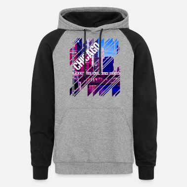 Illinois Chicago Mosaic - Unisex Colorblock Hoodie