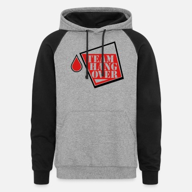 Weekend team hangover - Unisex Colorblock Hoodie