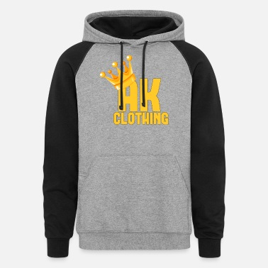 Gold AK CLOTHING BLACK & GOLD - Unisex Colorblock Hoodie