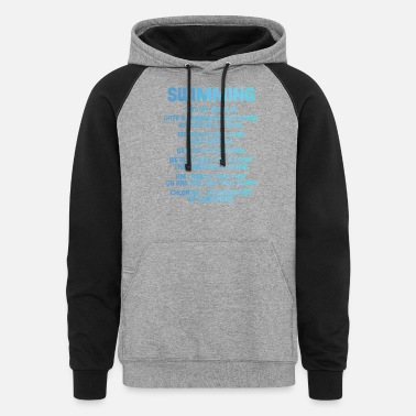 Date Swimming Eat My Bubbles Date A Swimmer - Unisex Colorblock Hoodie