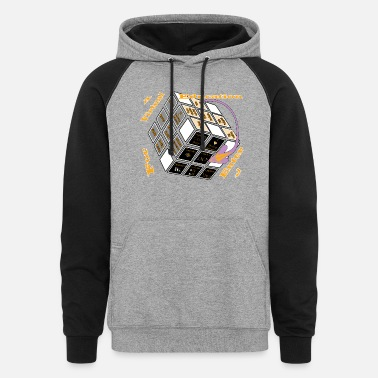 Augmented For a virtual education, enter. - Unisex Colorblock Hoodie