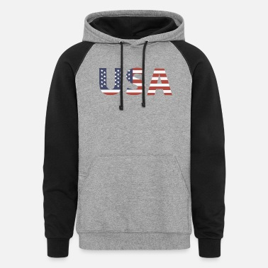 Stars And Stripes USA - Stars & Stripes - Unisex Colorblock Hoodie