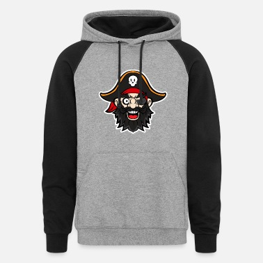 Pirate Party Halloween Pirate Party - Pirate Captain for Party - Unisex Colorblock Hoodie