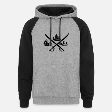 Logo Fleet of Fury Logo Black - Unisex Colorblock Hoodie