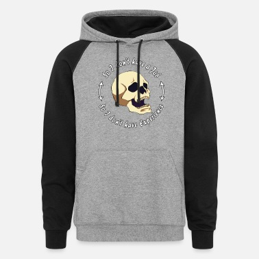 Jobless Jobless Skull - Unisex Colorblock Hoodie