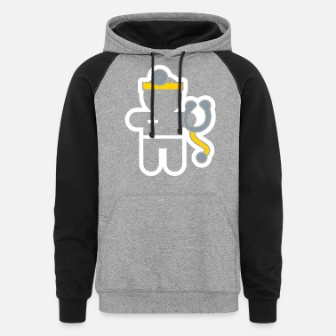 Career careers and professions: the doctor - Unisex Colorblock Hoodie