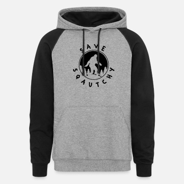Forest Save Squatchy In The Forest Big Foot Wild Animal - Unisex Colorblock Hoodie