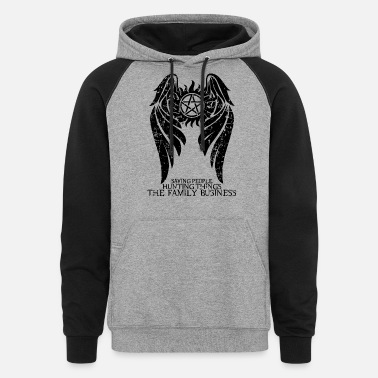 Supernatural Winchester Brothers Hunters - Unisex Colorblock Hoodie
