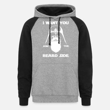 Beard I want you join the beard side - Unisex Colorblock Hoodie