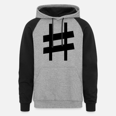Note-clue sharp note - Unisex Colorblock Hoodie