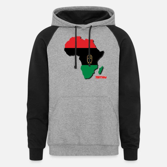 Africa Hoodies & Sweatshirts - RBG Africa - Unisex Colorblock Hoodie heather gray/black