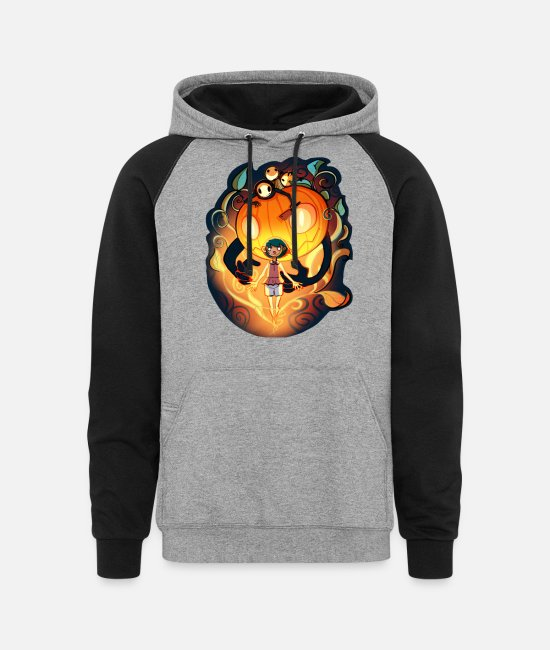 Halloween2015 Hoodies & Sweatshirts - Halloween Spirit - Unisex Colorblock Hoodie heather gray/black