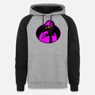 Nuclear Power Pandemic Gas Mask - Soldier Apocalypse T-Shirt. - Unisex Colorblock Hoodie