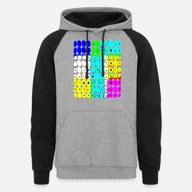 Colored Circles - Unisex Colorblock Hoodie