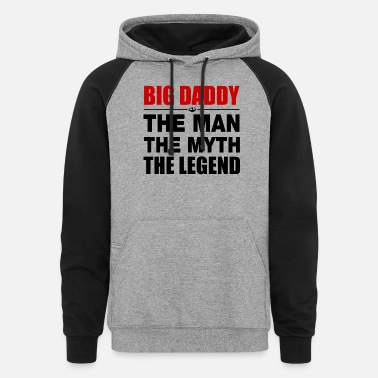 Big Daddy Big Daddy The Legend - Unisex Colorblock Hoodie