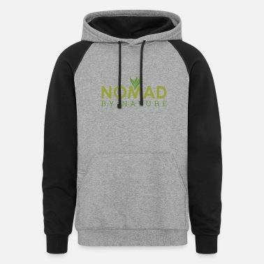 New Year Nomad by nature Freelancer Entrepreneur Gift Idea - Unisex Colorblock Hoodie
