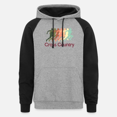 Country cross_country - Unisex Colorblock Hoodie
