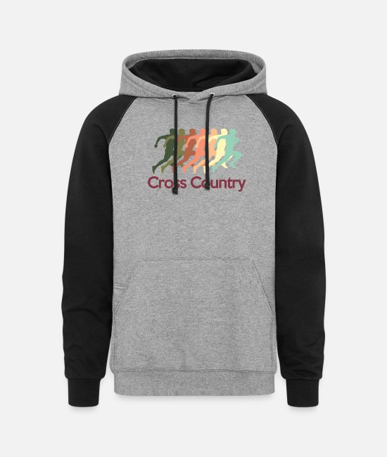 Sport Hoodies & Sweatshirts - cross_country - Unisex Colorblock Hoodie heather gray/black