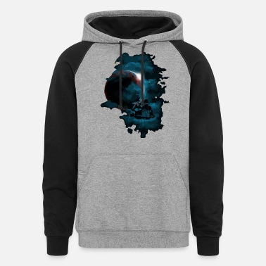Space Ship Pirate space ship - Unisex Colorblock Hoodie