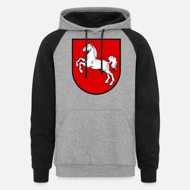 Saxony Lower Saxony Coat Of Arms - Unisex Colorblock Hoodie