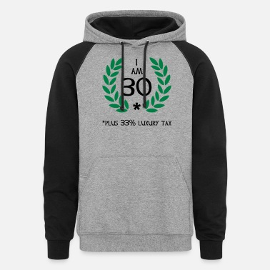 Party 40 - 30 plus tax - Unisex Colorblock Hoodie