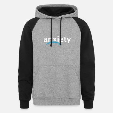 Anxiety anxiety amazon logo - Unisex Colorblock Hoodie