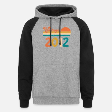 1972 Vintage 2012 Limited Edition Birthday gifts - Unisex Colorblock Hoodie