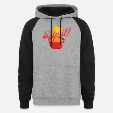 Paprika Dip it Tortilla Mexican - Unisex Colorblock Hoodie