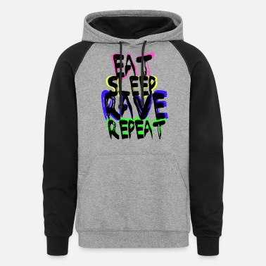 Rave Rave Repeat - Unisex Colorblock Hoodie
