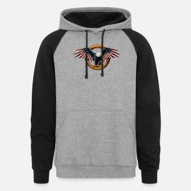 American Icon American eagle icon independence, strength,freedom - Unisex Colorblock Hoodie