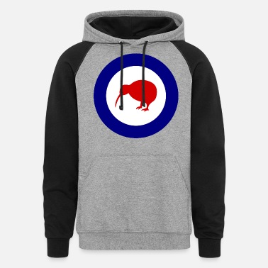Royal Air Force RNZAF - Royal New Zealand Air Force Logo - Unisex Colorblock Hoodie