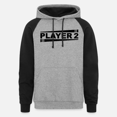 PLAYER 2 BLACK - Unisex Colorblock Hoodie